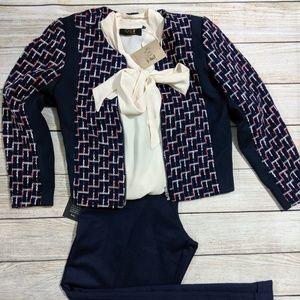 Zipped Tweed Jacket